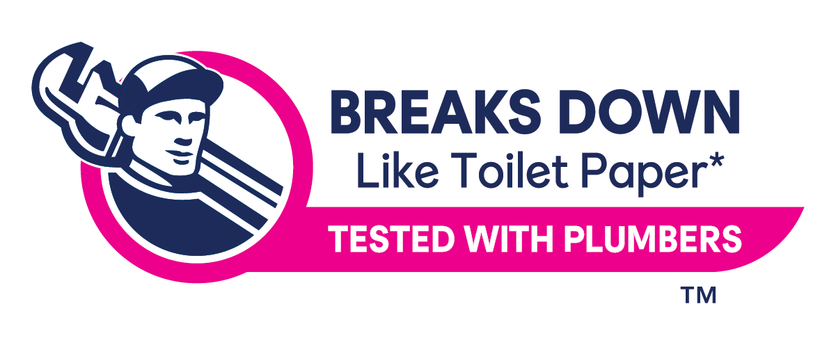 Cottonelle Flushable Wipes are made for toilets and tested by plumbers.